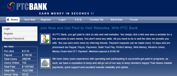what is ptc bank, ptc bank review, ptc bank scam or legit, ptc bank real or fake, ptcbank.net
