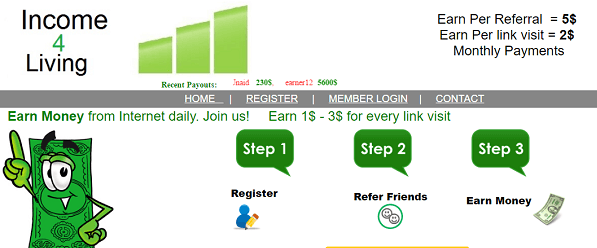What is Income4living.com, Is Income4living Scam or Legit, Income4living Real or Fake, Income4living Review, Income4living