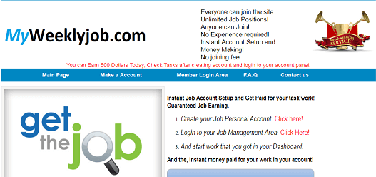 What is Myweeklyjob.com Is Myweeklyjob Scam or Legit Is Myweeklyjob Real or Fake Myweeklyjob Review Myweeklyjob