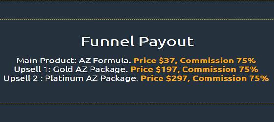upsells of Az formula