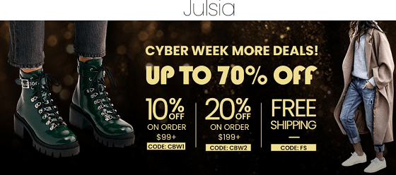 Julsia,com is a scam! They swindle and fiddle, it is confirmed already.
