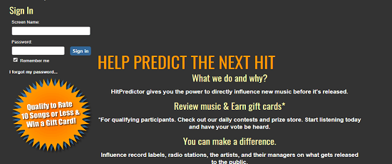 Pursue hobby of listening music? HitPredictor Review
